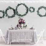 Anderson Party Rental Wedding Table, Linens and China