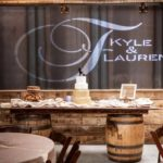 Anderson Party Rental 8-Foot Barrel Table for Weddings and Events
